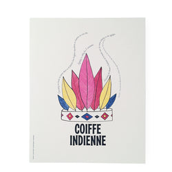 poster coiffe indienne