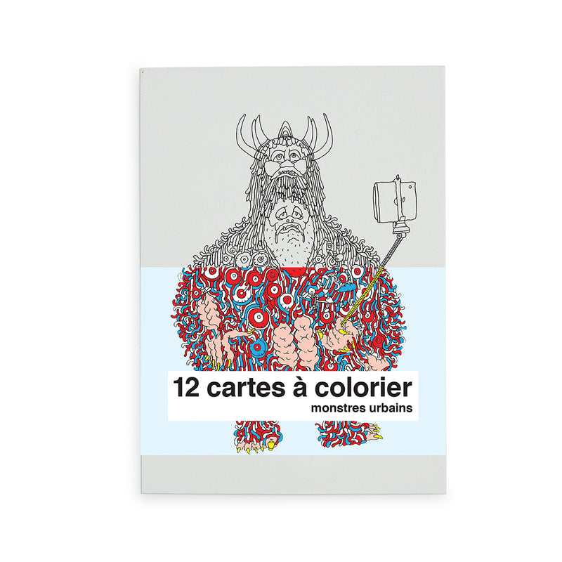 "cartes à colorier ""monstres urbains"""