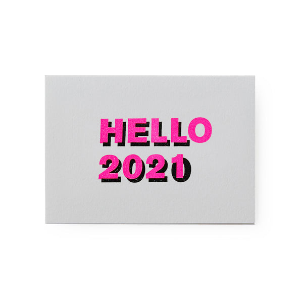 carte hell 2020/ hello 2021  rose/noir