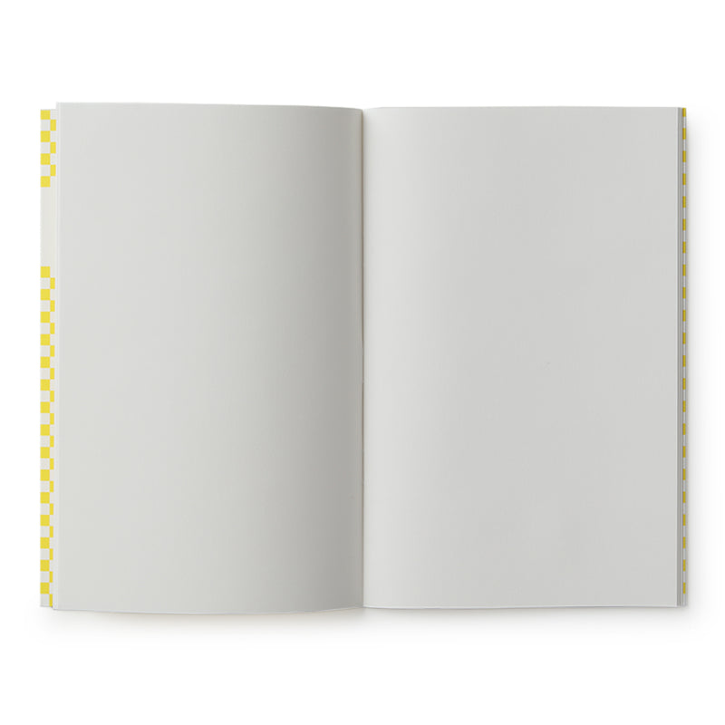 carnet de notes damier jaune