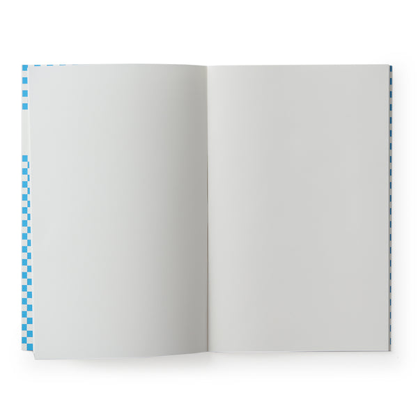 carnet de notes damier bleu