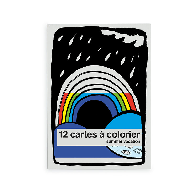"cartes à colorier ""summer vacation"""