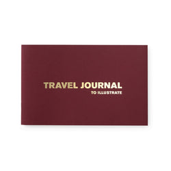 burgundy travel journal