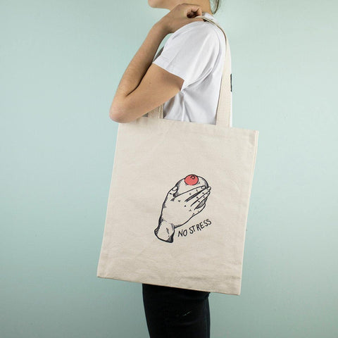 Cara Trancada - No stress - Tote-bag