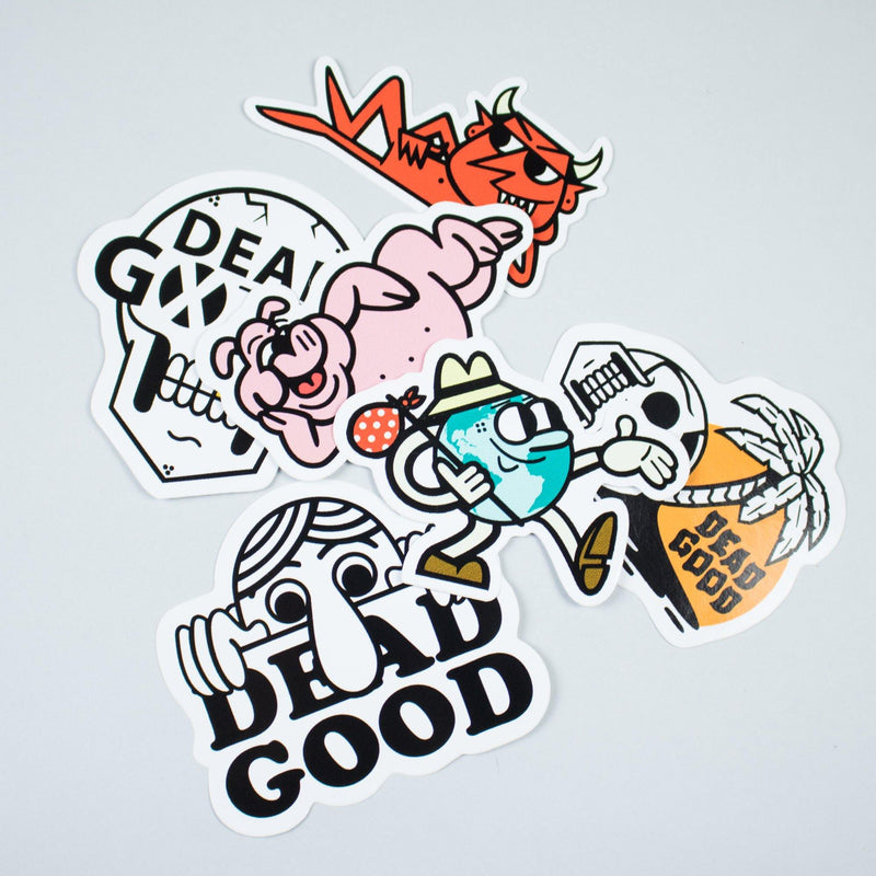 45RPM Sticker Pack - Circus Network Street Art and Illustration