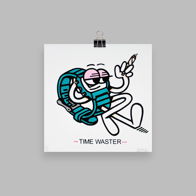 Time Waster - Circus Network Street Art and Illustration