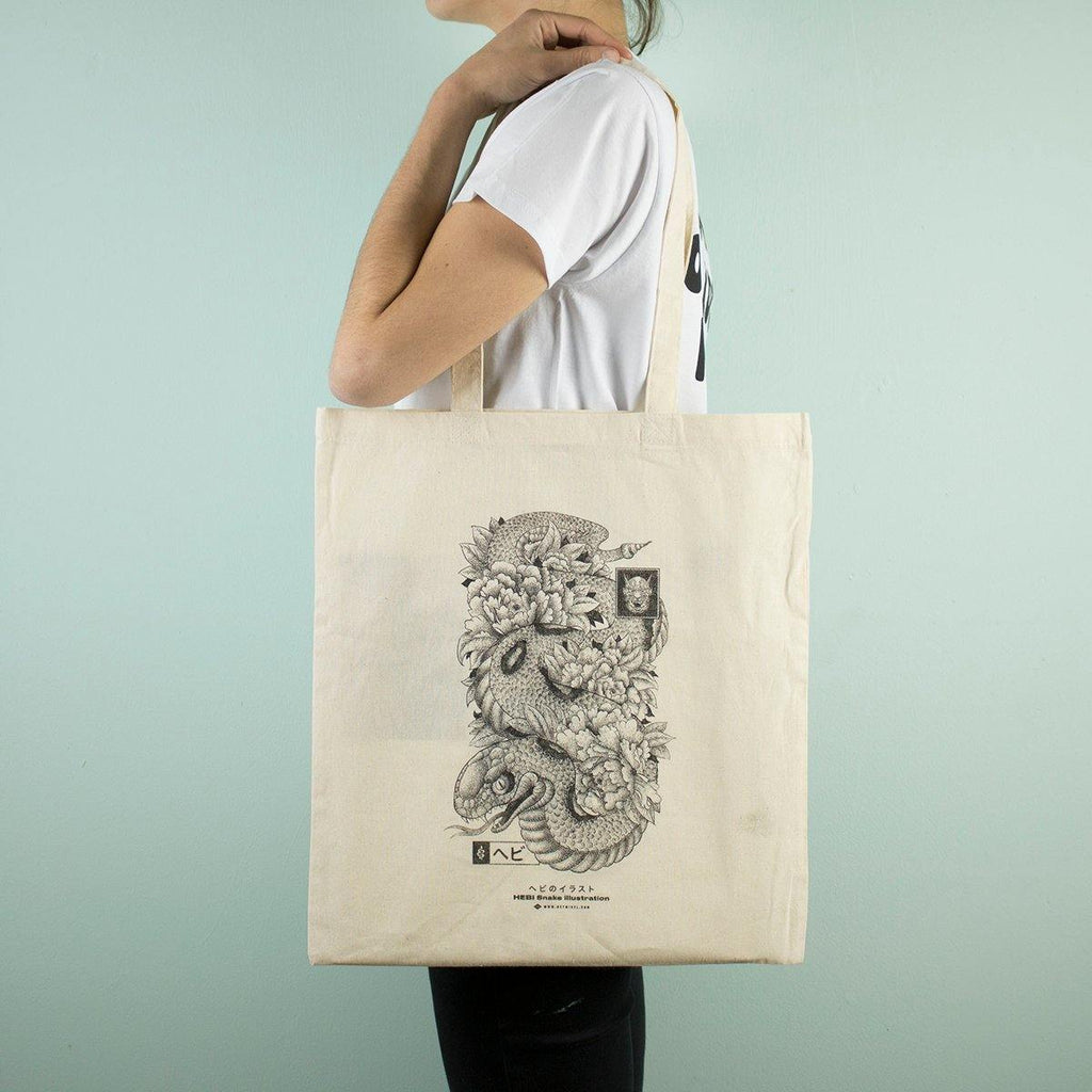 Heymikel - Snake - Tote-bag - Circus Network Street Art and Illustration