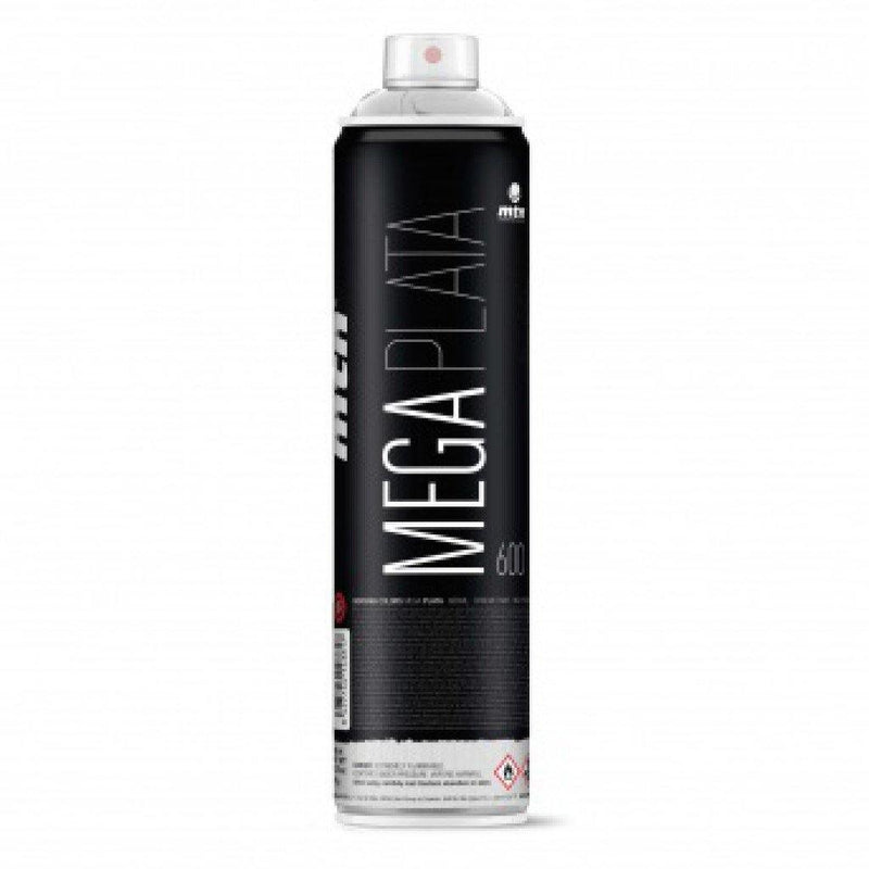 Mega Silver - Spray Paint - Circus Network Street Art and Illustration