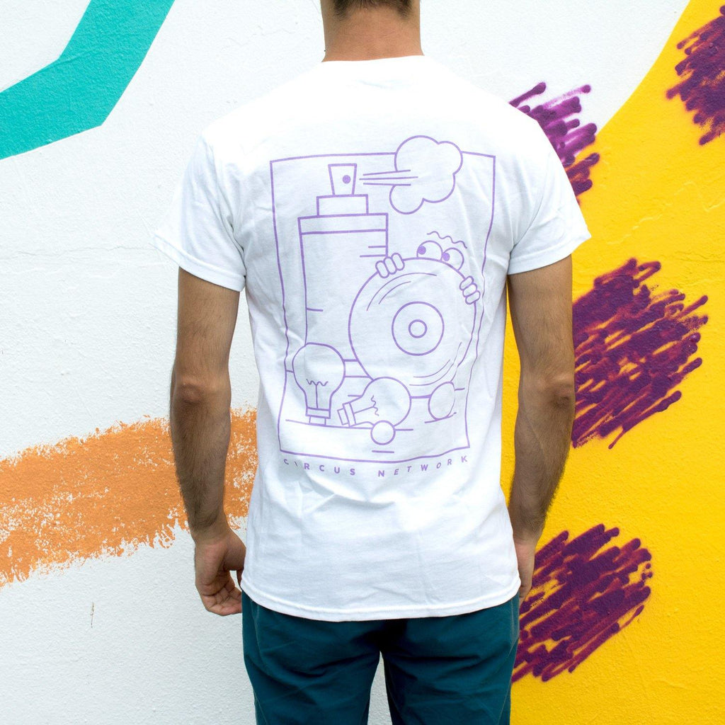 Circus Network - 7 Years Anniversary T-shirt Purple - Circus Network Street Art and Illustration