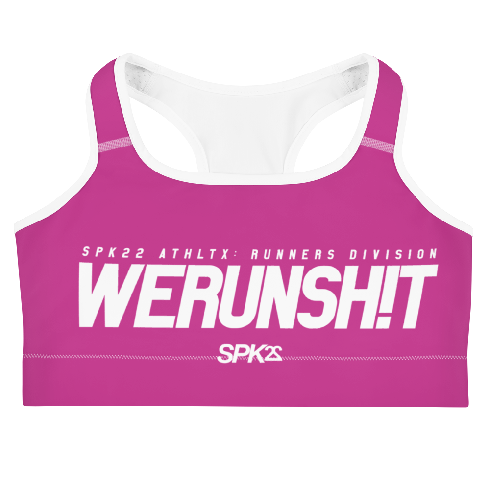 WERUNSHIT (PINK) SPORTS BRA by SPK22