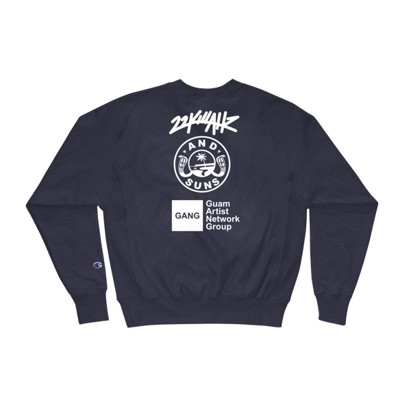 AND SUNS GUAM X 22K X GANG Champion Sweatshirt