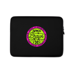 SPK22 BRAWL LAPTOP SLEEVE: Blk/Lime