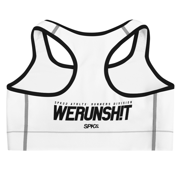 WERUNSHIT (WHITE) SPORTS BRA by SPK22