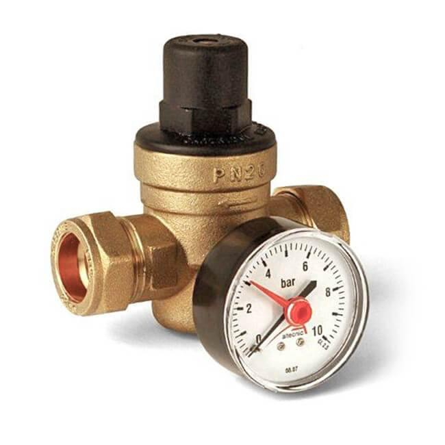 22mm Pressure Reducing Valve With Gauge | Trade Plumbing Supplier