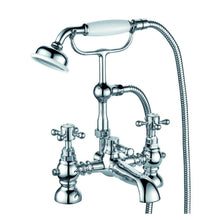 Load image into Gallery viewer, Formby | Traditional chrome finish Victorian bath shower mixer complete with kit