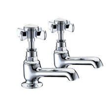 Load image into Gallery viewer, Wisley | Traditional chrome finish Edwardian bath taps (full turn operation) - tradeplumbingsupplier.co.uk