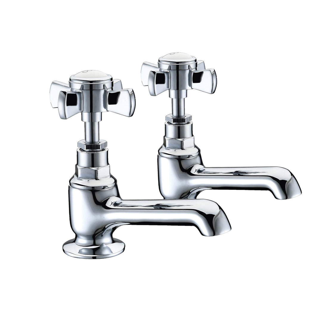 Wisley | Traditional chrome finish Edwardian bath taps (full turn operation) - tradeplumbingsupplier.co.uk