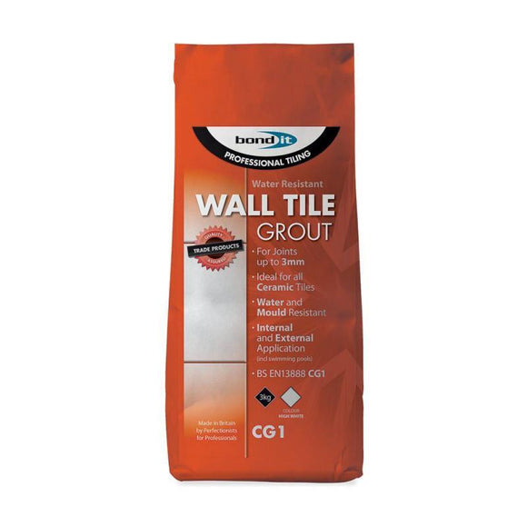 Bond It Wall tile Grout 3kg (white)