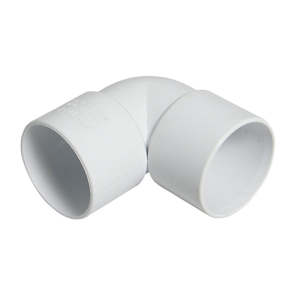 White 32mm 90 Degree Elbow Solvent Waste