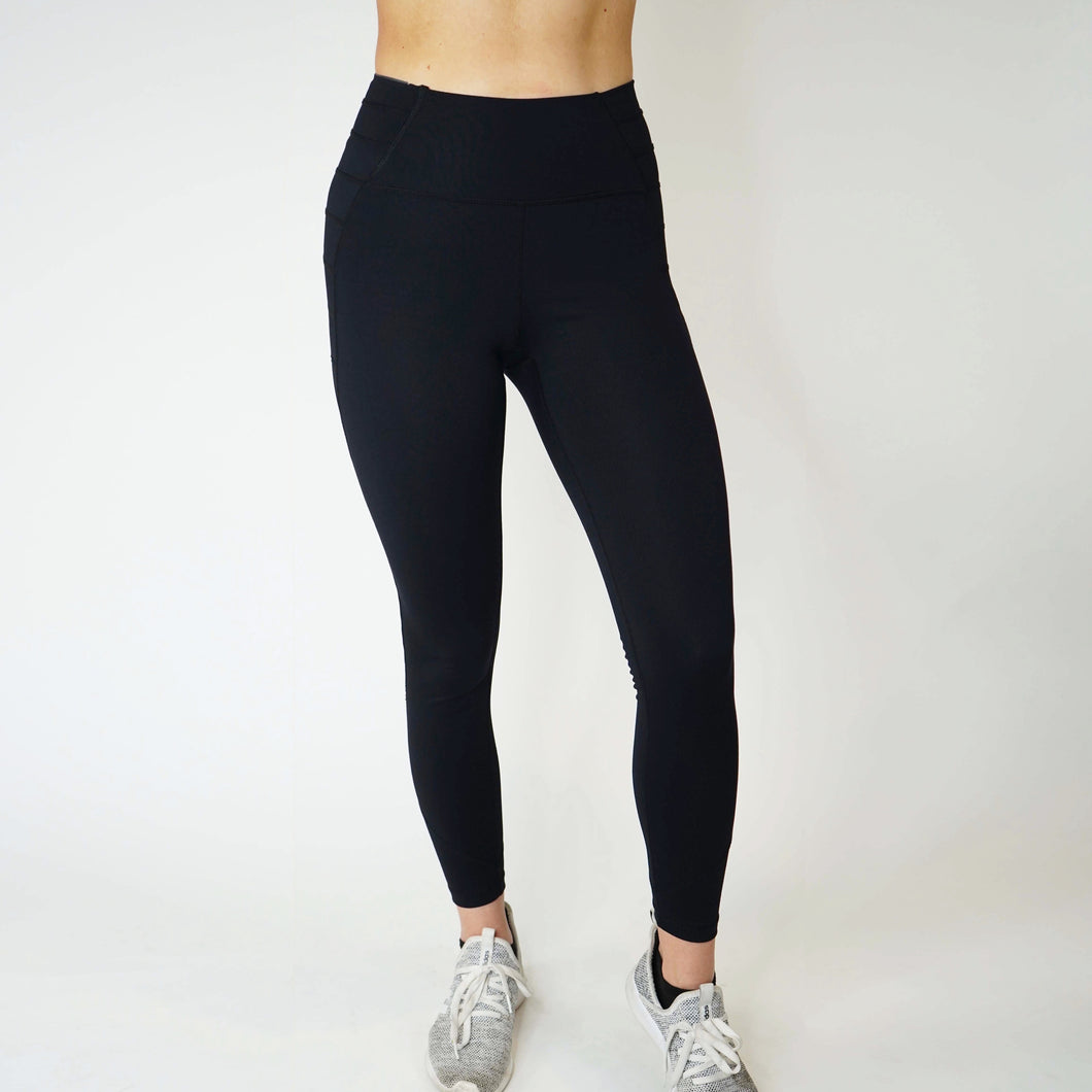 Hidden Pocket Leggings - Onyx