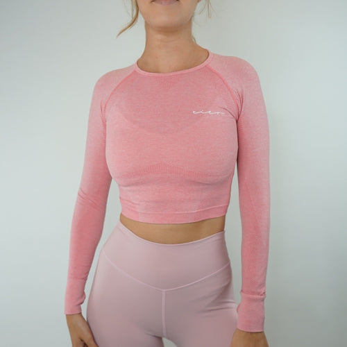 Aria Seamless Crop - Cotton Candy