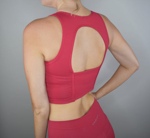 Elixir Crop Top - Cherry Red