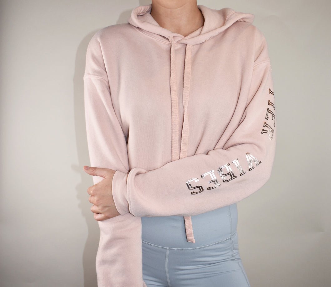 Cropped Hoodie- Rose Gold