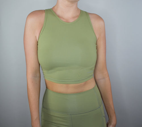 Elixir Crop Top - Olive