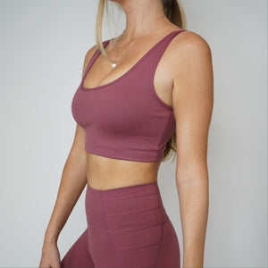 Serena Sports Bra - Raspberry