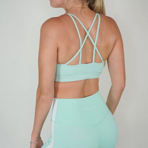 Knotty Sports Bra - Mint Chip