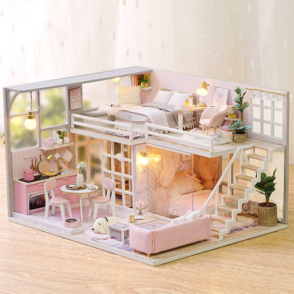 DIY Dollhouse | Sweet Dreams | Wooden Miniature House | DIY Kit