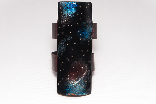 ENAMELED SPACE CUFF- PRICE UPON REQUEST
