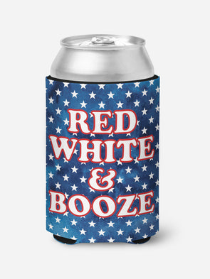 Red White and Booze Koozie