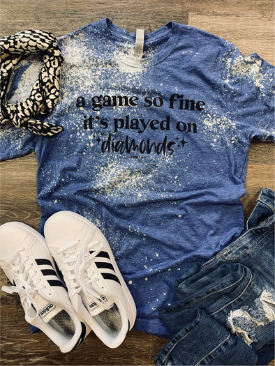 A Game so Fine Bleach Distressed Tee