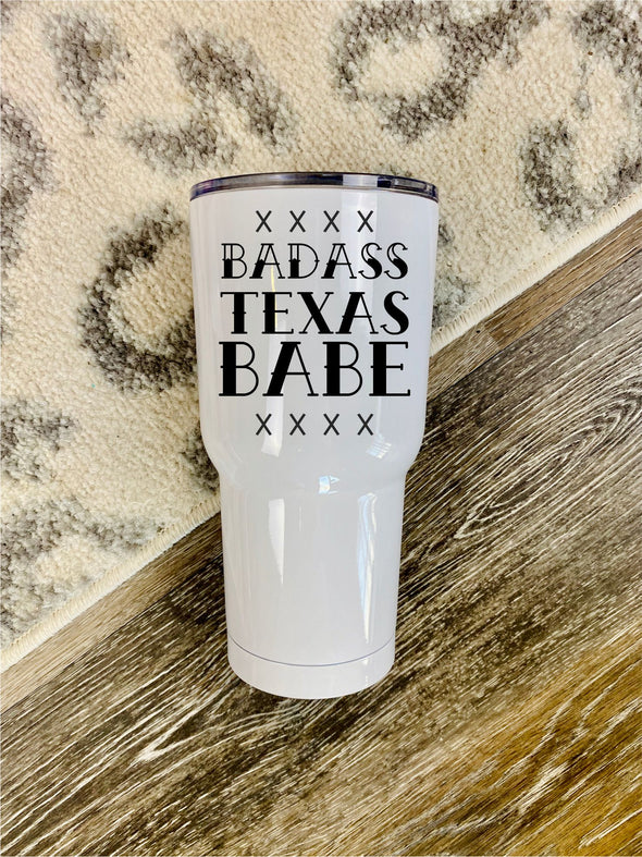 30oz Tumbler PRE-ORDER (Bad Ass State Babe)