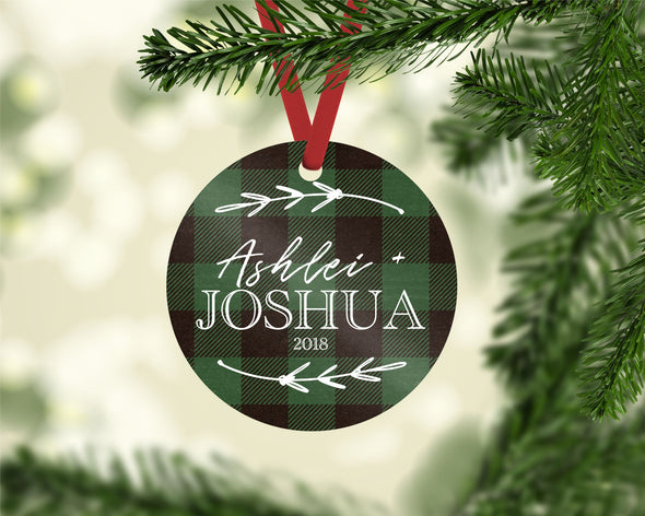 Green Plaid Ornament (CO1024)