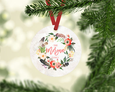 Feather Wreath Ornament (CO1041)