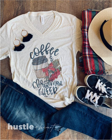 Coffee and Christmas Cheer Tee