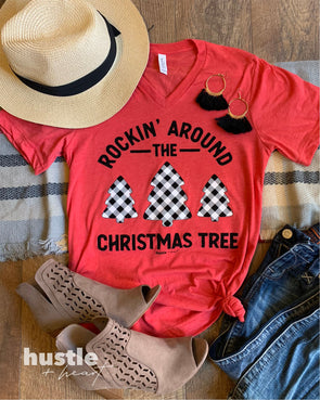 Rockin' Around the Christmas Tree Red Tee