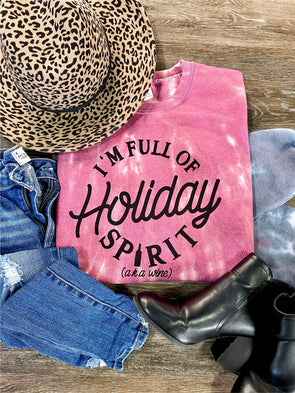 Filled with Holiday Spirit Tie Dye Sweatshirt