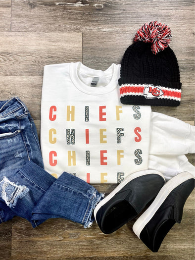 Chiefs Color block Sweatshirt
