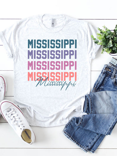 Color me Pretty Custom State Tee Shirt (STATE1017)