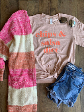Chips and Salsa Diet Tee (Peach)