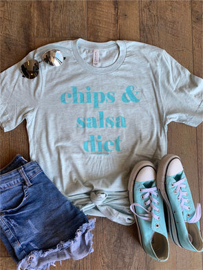 Chips and Salsa Diet Tee (Blue)