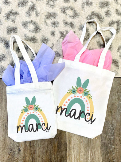 Easter Rainbow Tote Bag