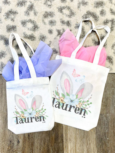 Bunnies and Butterflies Easter Tote Bag