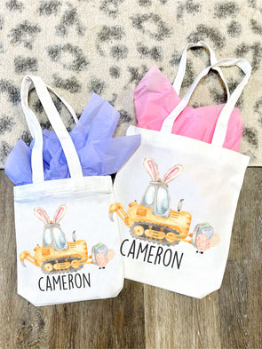 Construction Bunny Easter Tote Bag