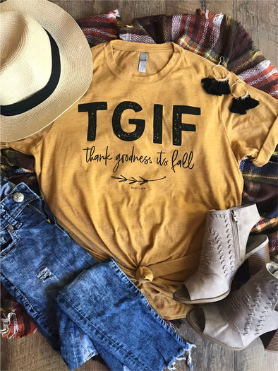 TGIF Thank Goodness It's Fall Tee