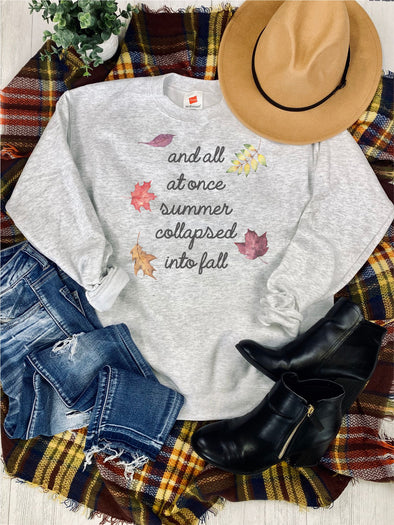 Summer Collapsed to Fall Sweatshirt