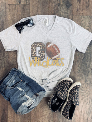 "Leopard Go ""Team"" Football Tee"